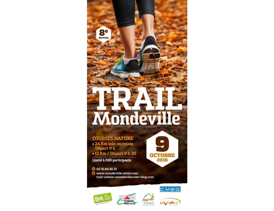 Affiche 8ème édition du Trail de Mondeville