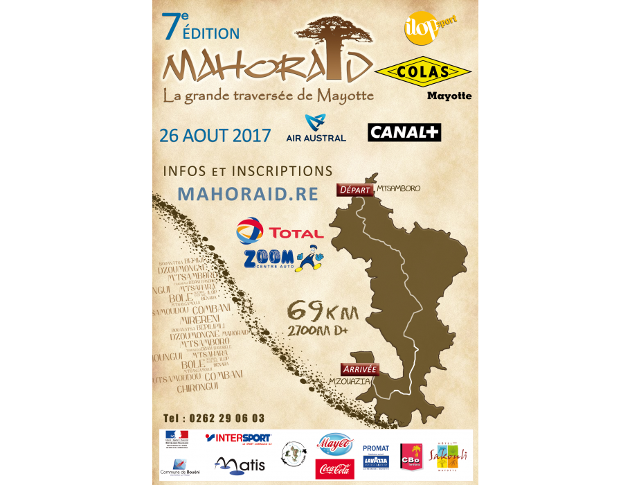 Affiche MAHORAID COLAS 2017