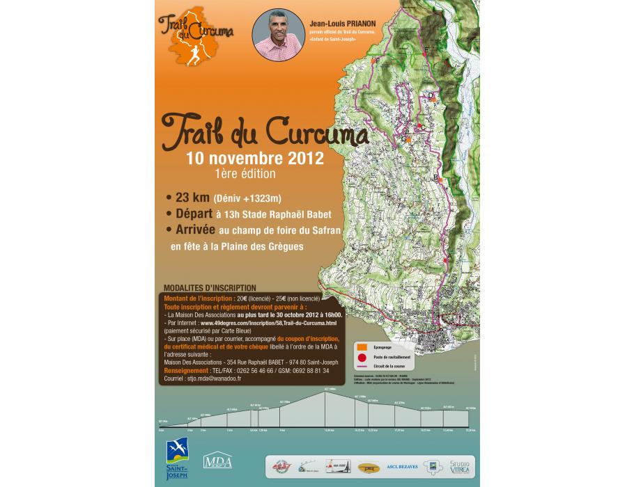 Affiche Trail du Curcuma